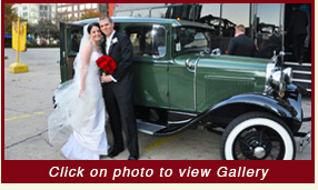 1930 Ford Model A Sedan classic wedding car rental chicago