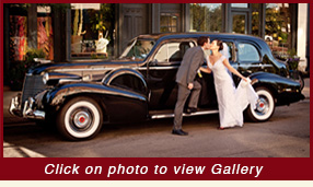 The Capone Car 1940 black Cadillac Limousine wedding car rental