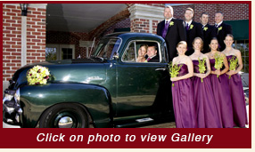 1954 green Chevy Pickup Truck vintage wedding car rental