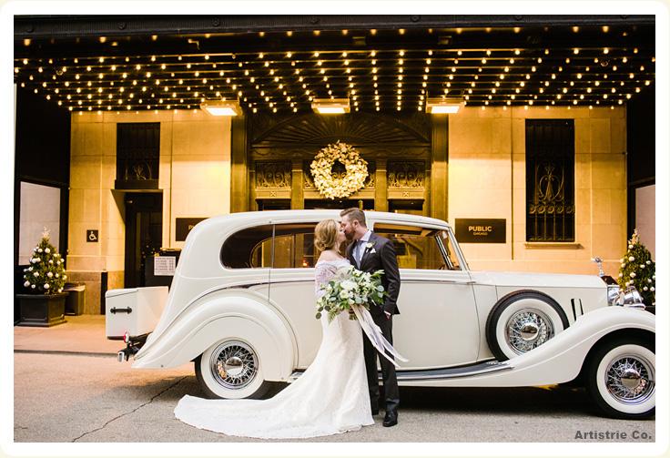Exterior View Of Luxury 1936 White Rolls Royce Wraith