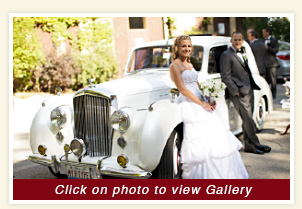 Danielle and Davids photo with luxury white Bentley