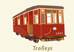 Trolley cars for wedding transportation, Classic Wedding Car